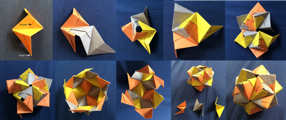 Modular Origami Ball Tutorial (12 Units) (Tomoko Fuse) - YouTube | 395x940